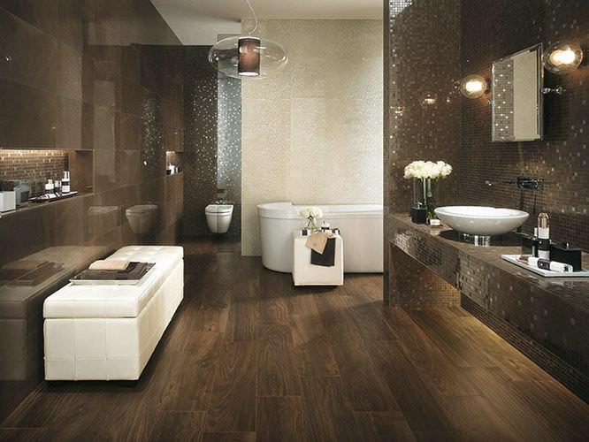 per quanto riguarda i materiali dei pavimenti per il bagno
