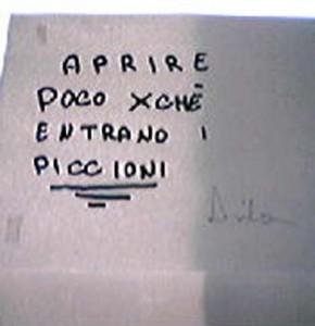 scritta in bagno