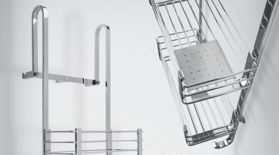 Portaoggetti doccia in acciaio inox a padova e vicenza - Accessori bagno in acciaio ...