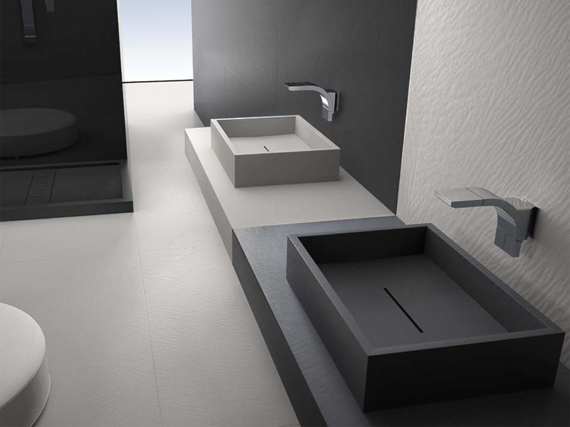 Lavabi per bagno padova top bagno in pietra mineralmarmo metacrilato - Lavabo pietra bagno ...