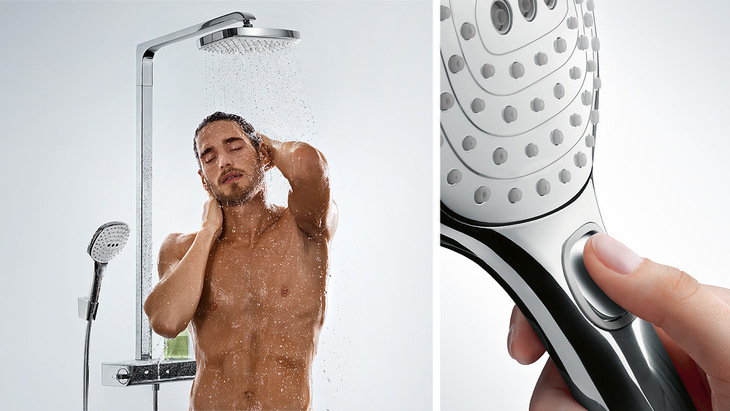 LamÈ miscelatore per doccia con soffione by fantini rubinetti
