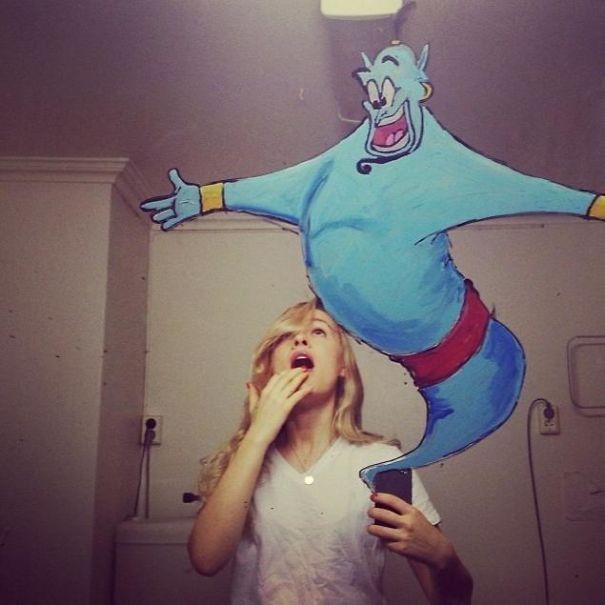 selfie fantasía