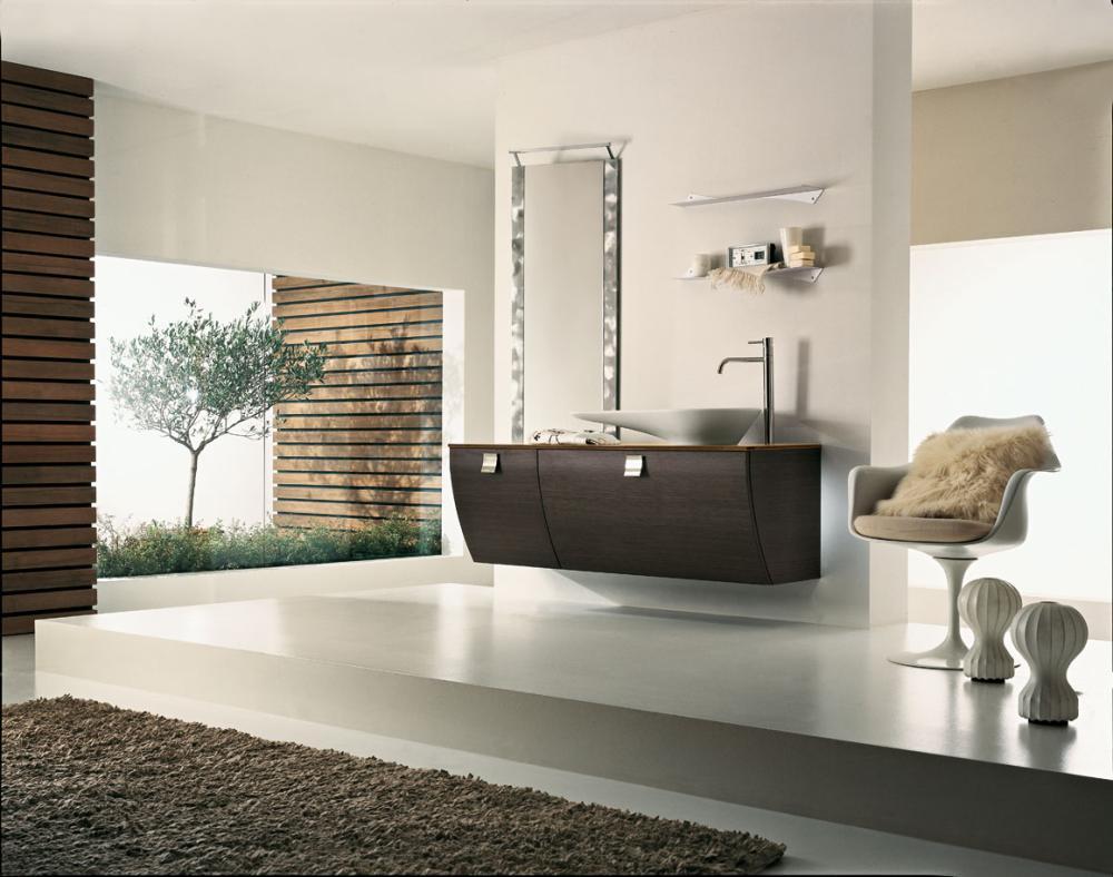 Come arredare il bagno in stile zen arredobagno zen - Arredo bagno marrone ...