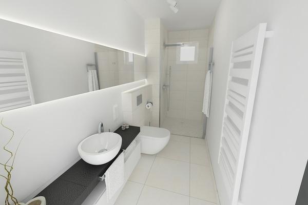 Come arredare un bagno stretto e lungo for Arredare bagno piccolo con lavatrice