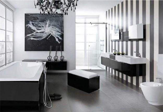 Come arredare un bagno in bianco e nero - Bagno bianco nero ...
