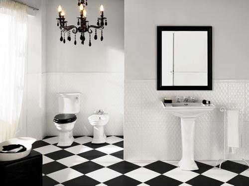 Come arredare un bagno in bianco e nero - Bagno arancione e bianco ...