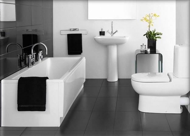 Come arredare un bagno in bianco e nero - Arredare bagno grande ...
