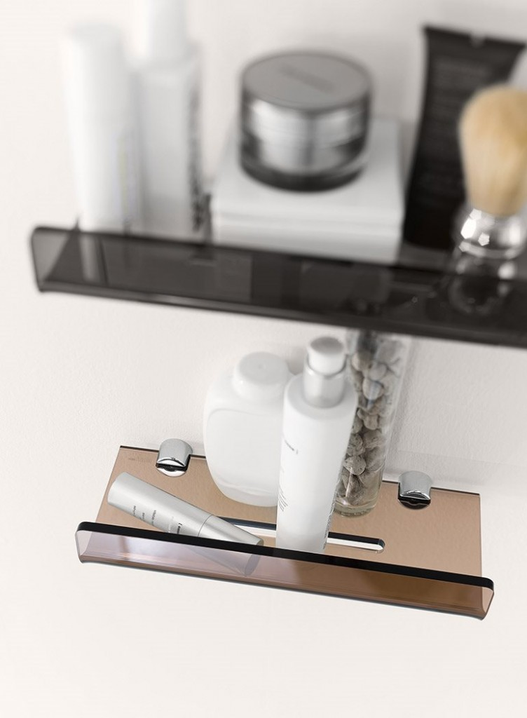 Mensole moderne da bagno a padova e vicenza for Accessori bagno inda