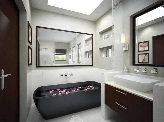 Come arredare un bagno piccolo con vasca da bagno for Bagno piccolo con vasca