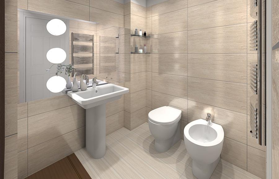 Come arredare un bagno di servizio - Idee per rivestire un bagno ...