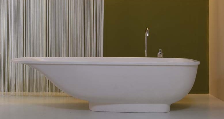 Vasca Da Bagno Opaca : Vasca da bagno freestanding rio stone in solid stone bianco