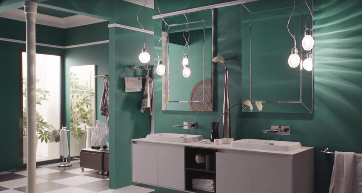 Rimuovere piastrelle bagno latest bagno con luimpiego della stessa resina spatolata per pareti - Pareti bagno senza piastrelle ...