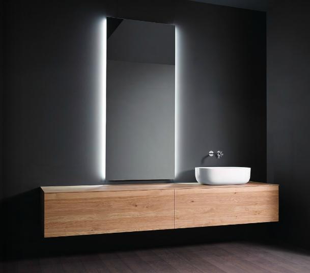 Specchio con bordo in alluminio casabath a padova e vicenza - Alluminio lucidato a specchio ...