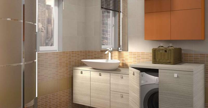 Come arredare un bagno con lavatrice for Arredo bagno lavatrice