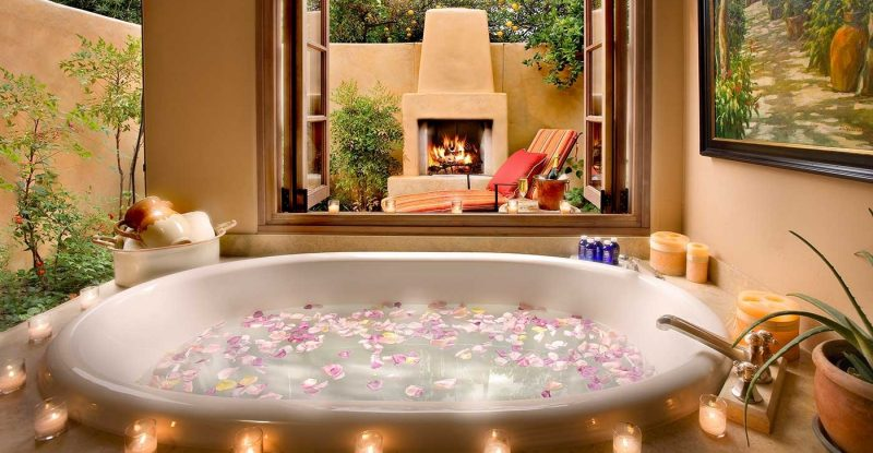 Vasca Da Bagno Romantica : Idee per un bagno romantico